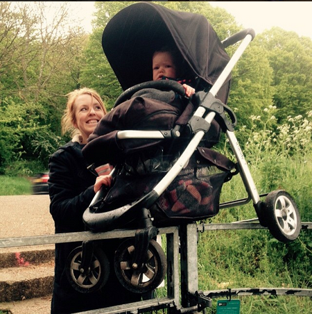 Climbing fences, carrying a buggy. Standard stuff.